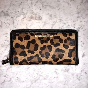 Rebecca Minkoff Ava Leather Zip Wallet Leopard